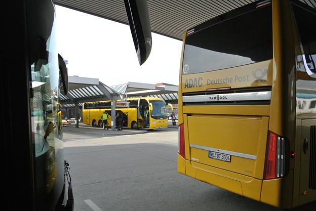 Busstationen i Berin blir ett nav för samarbetet mellan tyska Postbus och estniska Lux Express/Simple Express. Foto: Ulo Maasing.