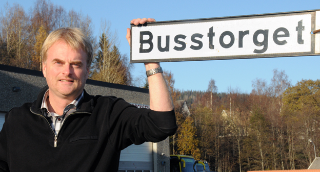Ska bli fossilfri. Tomas Byberg, vd för Byberg&Nordin, aviserar att Härnösands styadsbussar om några månader kommer att vara helt fossilfria. Foto: Ulo Maasing.