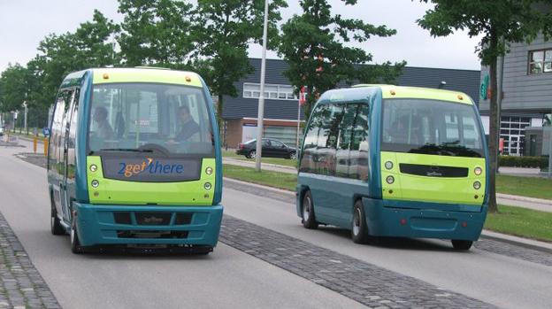 Något för Lidingö? Förarlösa bussar i Holland. Foto: CityMobil2.