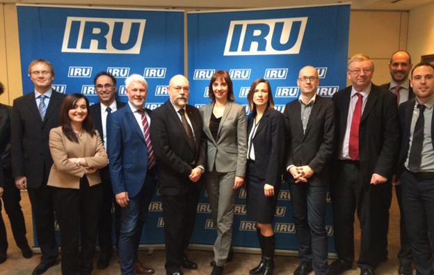 Delegagter vid IRU:s möte i Bryssel på onsdagen.