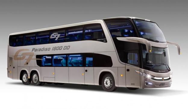 Ett bussföretag i Ecuador har köpt 54 Marcopolo Paradiso 1800 DD med Scaniachassier. Bild: Marcopolo.