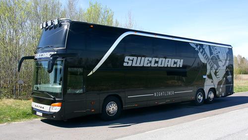 En av SweCoach´s Nightlinerbussar. Foto: SweCoach.