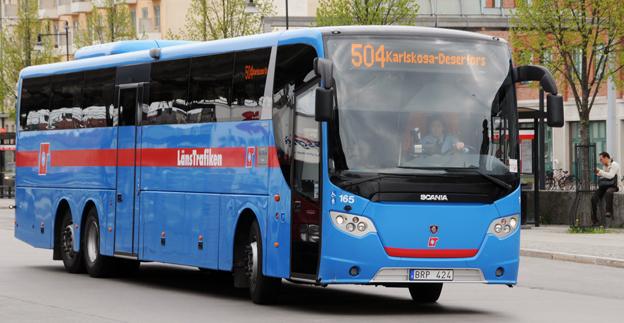 De västra delarna av Örebro län ska få kraftigt utbyggd busstrafik. Mellan Karlskoga och Degerfors ska bussarna gå var 15:e minut. Foto: Ulo Maasing.