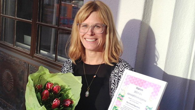 Ylva Preutz Papantoni, Årets jämställdhetsstjärna enligt Kvinnor i transportpolitiken. Foto: Stockholms läns landsting.