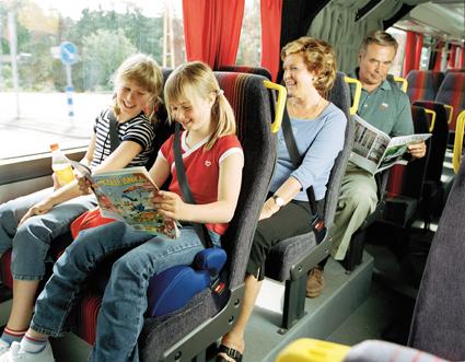 Polisen i hela Europa kommer under vecka 11 att fokusera extra på användningen av säkerhetsbälte. Foto: Volvo Bussar.