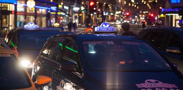 Taxi Kurir är det största taxiföretaget inom Fågelviksgruppen som nu tas över av amerikanska riskkapitalister. Foto: Sven Ängermark.