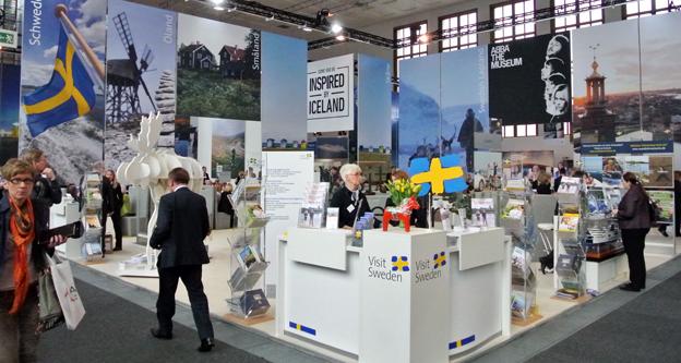 Visit Swedens monter på ITB i Berlin. Foto: Ulo Maasing.