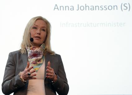 Infrastrukturminister Anna Johansson(S): Viktigt med innovationer i transportbranschen. Foto: Ulo Maasing.