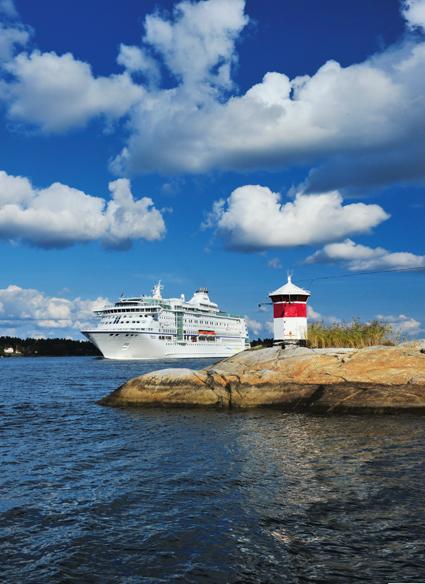 Birka Cruises väljer annan väg på några av sina kryssningar. Foto: Birka Cruises.