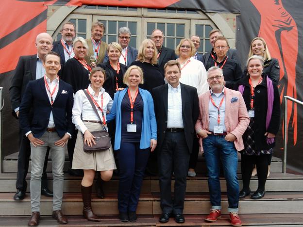 Större delen av den 24 personer starka svenska delegationen vid årets Germany Travel Mart i Erfurt och Weimar.