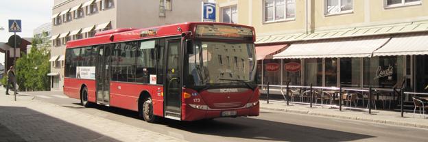Stadsbussar i Luleå har drabbats av skadegörelse i form av grus i motorerna. Foto: Ulo Maasing.