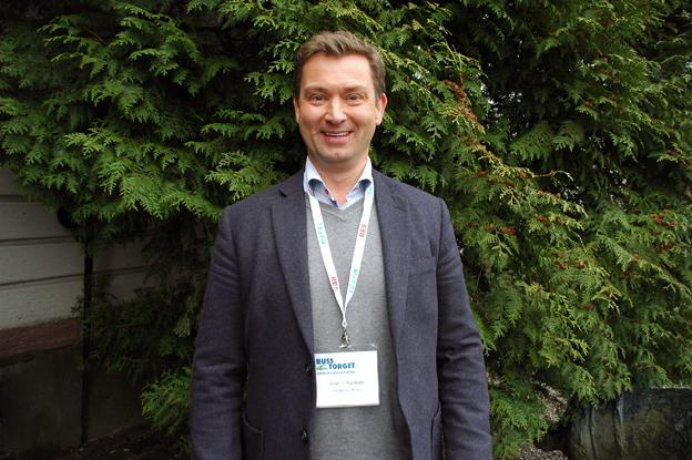 Joakim Kjellsson från Bergkvarabuss var med på Busstorgets båda dagar.