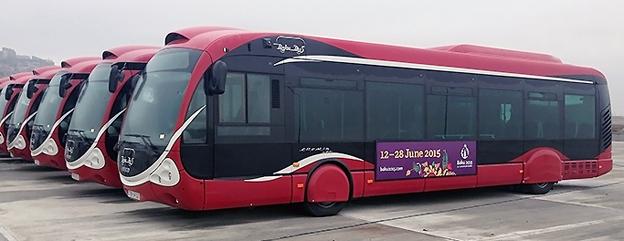 Iveco Bus har fått en stororder på 300 bussar till Azerbadjan. Foto: Voith.