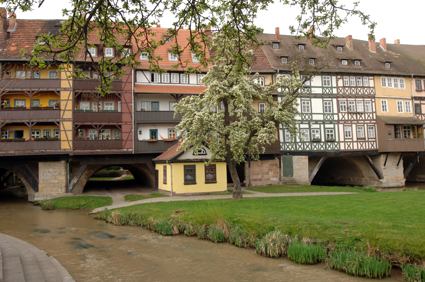 Erfurts berömda Krämerbrücke.
