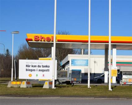 Kumlas och Sydnärkes första biogasmack ligger i anslutning till Shellmacken i Kumla. Bild: Kumla kommun.