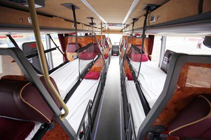 En av megabusGold.coms sovbussar. Foto: Stagecoach Group.