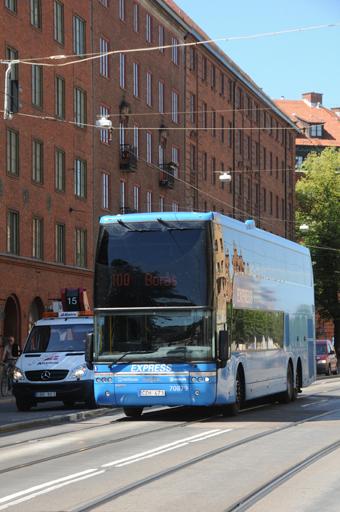 Linje 100 mellan Borås och Göteborg är en av de linjer som Nettbuss kör i Sverige. Foto: Ulo Maasing.