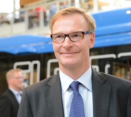 AB Volvos vd och koncernchef Olof Persson går på direkten. Foto: Ulo Maasing.