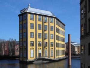 "En av Norrköpings mest kända byggnader, ""Strykjärnet"". Foto: Thuresson/Wikimedia Commons."