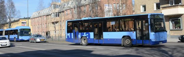 Resandet med stadsbussarna i Umeå har i vinter varit det största någonsin. Foto: Ulo Maasing.