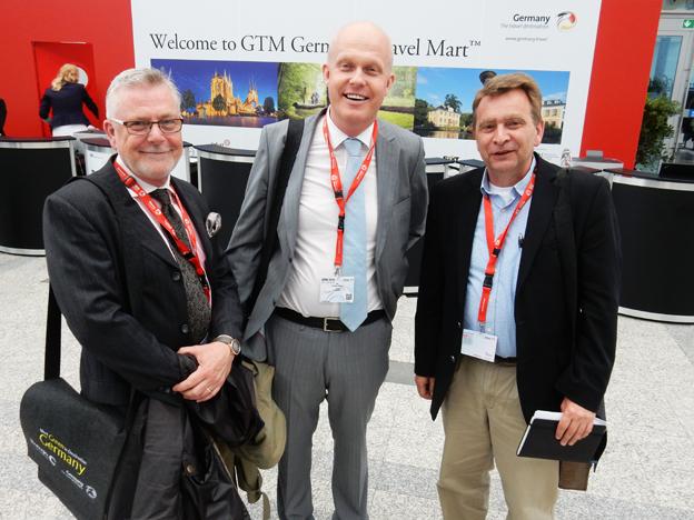 Mikael von Leitgeb från Ölvemarks Holiday tillsammans med Jonas Melin och Anders Olsson, Citadellresor.