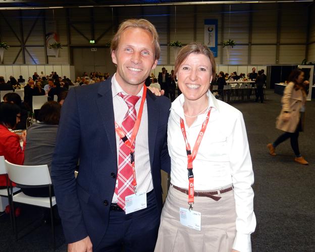 Peter Olséni, Jörns Resor tillsammans med Iris Müller, Tyska Turistbyrån.