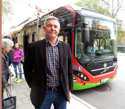 Lars Annerberg, Sveriges Bussföretag: Kostnaderna för kollektivtrafiken ökar fortfarande snabbare än resandet. Foto: Ulo Maasing.