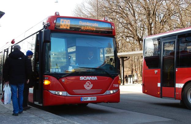 Arriva Sverige gjorde ny brakförlust förra året.På bilden: Arrivabussar i norra Storstockholm. Foto: Ulo Maasing.