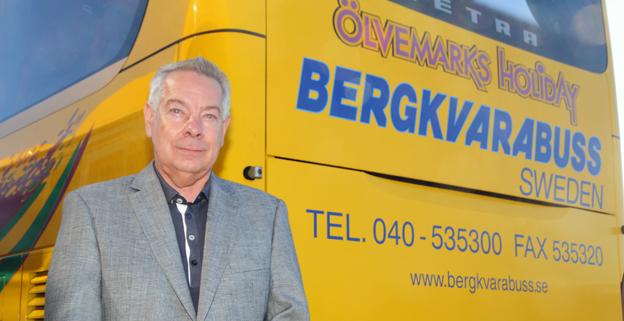Göran Mellström, vd för Bergkvarabuss. Från 0 till 1000 bussar på 40 år. Foto: Ulo Maasing.