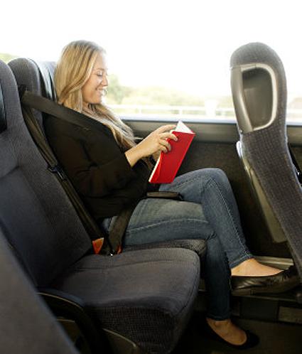 Swebus erbjuder nu en möjlighet att köpa dubbla stolar för att få ökad komfort under resan. Foto: Swebus.