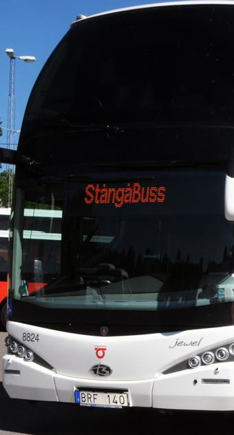 Stångåbuss r ett av de bussföretag som byter till HVO i expresstrafiken i Östergötland. Foto: Ulo Maasing.