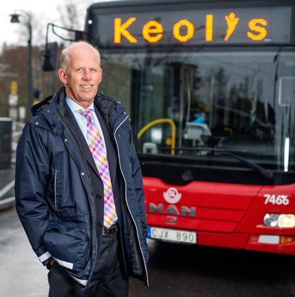 Förre SJ-chefen Jan Forsberg blir ny styrelseordförande för Keolis Sverige AB. Foto: Keolis.