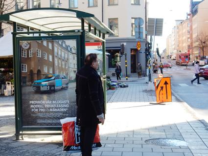 JCDecaux och Clear Channel dominerar marknaden för utomhusreklam, bland annat på busshållplatser. Nu utreder de danska konkurrensmyndigheterna om de båda bolagen har gjort sig skyldiga till olaglig kartellbildning, Foto: Ulo Maasing.