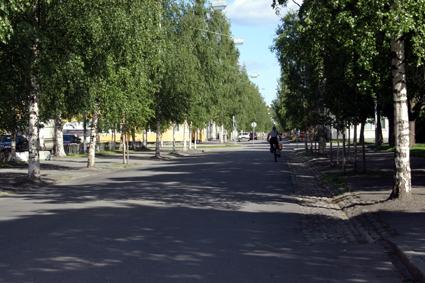 Kungsgatan i Umeå. Foto lic från Wikimedia Commons/olsin.se.