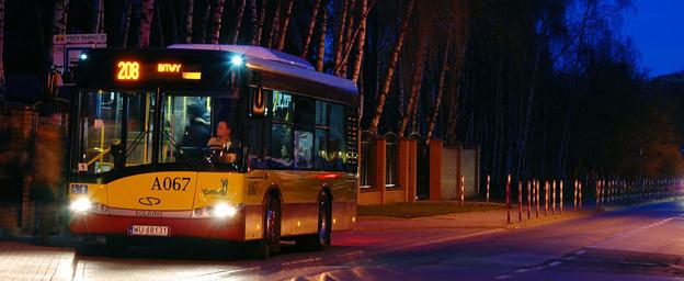 Solaris har fått en order på 80 bussar till Warszawa – samtlig med solpaneler på taket. Foto: Solaris.