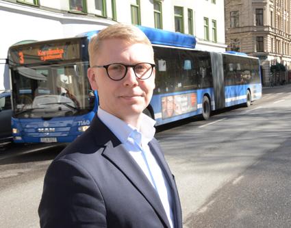 Trafiklandstingsrådet Kristoffer Tamsons: Inget är gratis. Det handlar bara om att skicka notan till någon annan. Foto: Ulo Maasing.