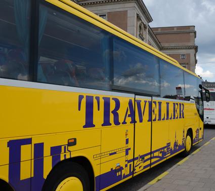 År 2003 etablerade sig Bergkvarabuss i Stockholmsområdet genom att köpa Traveller Buss. Foto: Ulo Maasing.