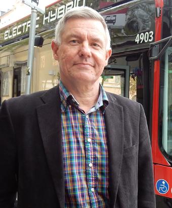 Lars Annerberg, Sveriges Bussföretag, medverkar i Kommunals seminarium om upphandlingar och anställningstrygghet. Foto: Ulo Maasing.