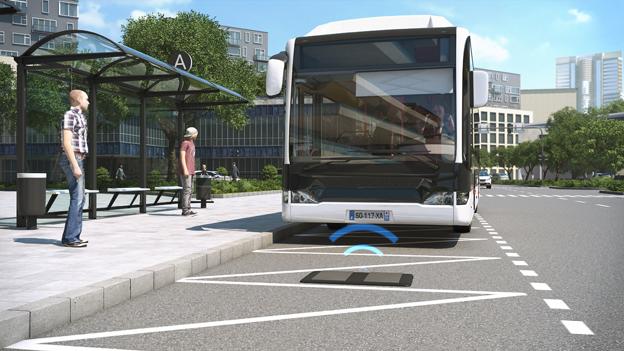 Spårvägslösning för buss från Alstom. Bild: Alstom.