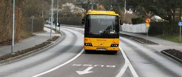 Regionstyrelsen i Skåne prioriterar infrastruktur för regionala superbussar som kan ersätta en del av dagens regionbussar. Foto: Ulo Maasing.