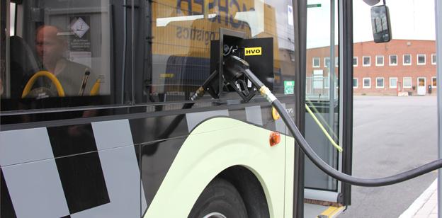 Även Volvo godkänner HVO som drivmedel i stads- och regionbussar. Foto: Volvo.