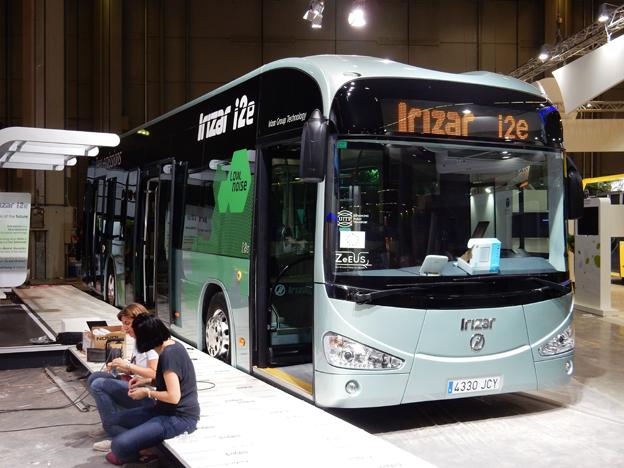 Spanska Irizar är också på plats med en elbuss, Irizar iE. Foto: Ulo Maasing.