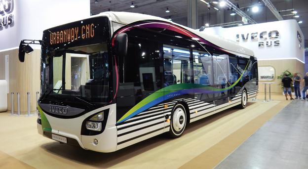 Ivecos stadsbusserie Urbanway är nu komplett. På UITP-mässan i Milano introducerades Urbanway som gasbuss. Foto: Ulo Maasing.