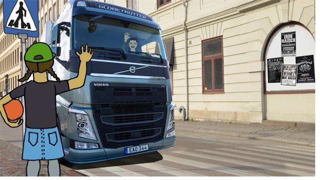 Vinka för ökad trafiksäkerhet för barn! IRU och Volvo startar en kampanj.