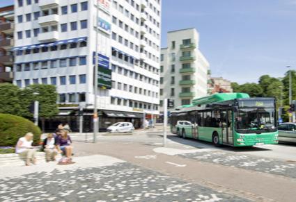 Bäst betyg bland de skånska stadsbussarna får stadtrafiken i Landskrona. Foto: Skånetrafiken.