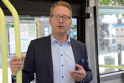 Niklas Gustafsson, Volvokoncernens hållbarhetschef. Foto: Ulo Maasing.