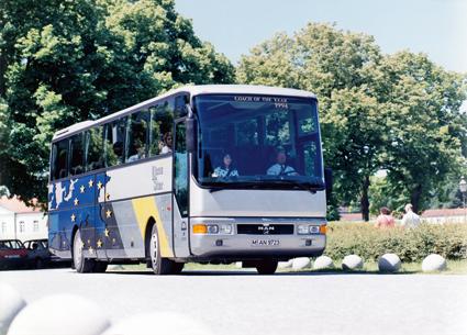 1992: MAN Lion´s Star blev årets turistbuss i Europa. Foto: MAN.