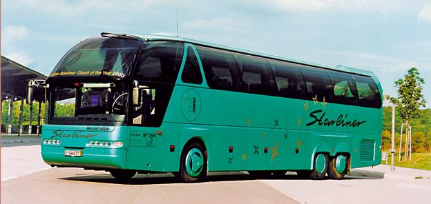 Neoplan Starliner. 2001 tog MAN över varumärket Neoplan.