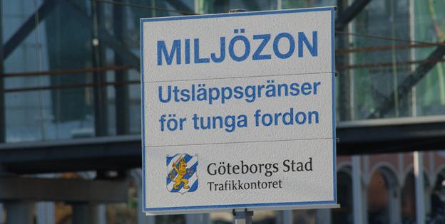 Otillåtna bussar kör för Västtrafik i Göteborgs miljözon. Foto: Ulo Maasing.