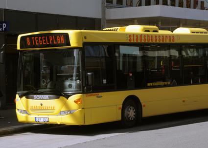 Kontanthanteringen på stadsbussarna i Östersund avskaffas i slutet av augusti. Foto: Ulo Maasing.